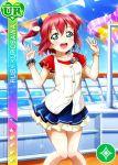 blush character_name dress green_eyes kurosawa_ruby love_live!_school_idol_festival love_live!_sunshine!! pink_hair short_hair smile