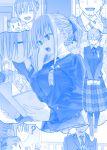 baby bangs blue_theme getsuyoubi_no_tawawa himura_kiseki maegami-chan_(tawawa) monochrome school_uniform