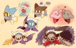 5boys dark_meta_knight kirby kirby_(series) magolor marx multiple_boys nintendo shadow_kirby sword weapon yellow_eyes