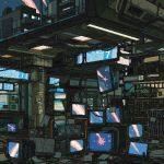 animated animated_gif beer_bottle computer computer_tower highres indoors monitor mouse_(computer) no_humans original pixel_art scenery sign television waneella