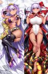 1girl ass bangs bare_shoulders barefoot baseball_cap bat_wings bb_(fate)_(all) bb_(swimsuit_mooncancer)_(fate) belt bikini black_coat black_garter_belt black_gloves black_legwear black_shorts blush breasts dakimakura fate/extra fate/extra_ccc fate/grand_order fate_(series) feet fingerless_gloves gendo0032 gloves grin gyaru hair_ribbon hat hat_removed headwear_removed high_heels highleg highleg_leotard jacket jacket_removed large_breasts leotard licking_lips long_hair looking_at_viewer neck_ribbon popped_collar purple_bikini purple_hair purple_ribbon red_ribbon ribbon short_shorts shorts smile studded_garter_belt swimsuit tan tentacle thigh-highs thighs tiara tongue tongue_out vampire_costume very_long_hair violet_eyes white_belt white_gloves white_leotard wings yellow_jacket