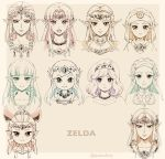6+girls :d bangs blunt_bangs blush braid brooch carrying character_name closed_mouth collarbone crown_braid curly_hair diadem earrings expressionless eyebrows_visible_through_hair forehead four_swords_adventures gem hair_ornament hairclip highres hime_cut jewelry long_hair looking_at_viewer multiple_girls multiple_persona necklace nintendo open_mouth pale_color parted_bangs pearl_necklace pointy_ears ponytail portrait princess_carry princess_zelda round_teeth short_hair shuri_(84k) sidelocks smile swept_bangs teeth the_legend_of_zelda the_legend_of_zelda:_a_link_between_worlds the_legend_of_zelda:_a_link_to_the_past the_legend_of_zelda:_breath_of_the_wild the_legend_of_zelda:_ocarina_of_time the_legend_of_zelda:_skyward_sword the_legend_of_zelda:_twilight_princess twitter_username upper_body veil young_zelda zelda_musou