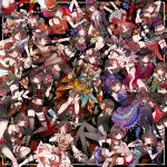:s animal_ears armpits bag bandage bandage_over_one_eye bang_dream! bare_shoulders belt beret black_hair blush boots breasts calling_card chino_machiko choker cleavage cleavage_cutout cloak closed_eyes collarbone denim denim_shorts dress dress_shirt earrings elbow_gloves fedora fishnet_pantyhose fishnets flower fur_trim gloves hair_bun hand_on_hip hat hat_flower high_heels highlights highres jacket japanese_clothes jewelry kimono legwear_under_shorts looking_at_viewer low_ponytail midriff mitake_ran multicolored_hair multiple_girls navel necklace necktie overalls pantyhose peaked_cap plaid plaid_skirt red_eyes redhead ribbed_legwear ribbed_sweater ribbon robe sailor_collar sailor_dress santa_costume santa_hat shako_cap shirt short_shorts shorts skindentation skirt smile striped striped_legwear sweater sweater_jacket tears thigh_strap torn_clothes track_suit two-tone_hair variations younger