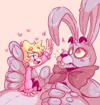1girl 1other 2015 animal animatronic artist_name artist_request bonnie_(fnaf) child five_nights_at_freddy's gheistly human purple_ears rabbit robot scott_cawthon_(company) tagme