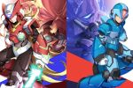 6+boys albert_w_wily android arm_cannon bald blonde_hair blue_eyes capcom colonel energy_sword facial_hair gloves green_eyes grin helmet highres holding holding_weapon jie_laite long_hair male_focus multiple_boys mustache red_eyes rockman rockman_x scar scar_across_eye serious shoulder_cannon sigma smile sword vava very_long_hair weapon white_gloves x_(rockman) zero_(rockman)