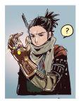 avengers:_infinity_war black_hair crossover infinity_gauntlet japanese_clothes marvel scarf sekiro sekiro:_shadows_die_twice short_hair tajima_ryuushi upper_body