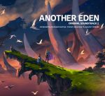 1boy 1girl album_cover altena_(another_eden) another_eden bird cape cliff clouds copyright_name cover english_text flock grass guildna_(another_eden) highres landscape ocean official_art outdoors scenery siblings sky star_(sky) starry_sky sunset water