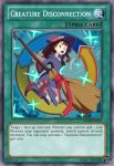 1girl 2019 boots broom brown_eyes brown_hair full_body hat kagari_atsuko little_witch_academia long_hair looking_back open_mouth parody showers-u text_focus trading_card witch_hat yu-gi-oh!