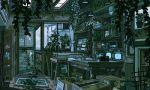 animated animated_gif box cardboard_box corkboard cup indoors lamp no_humans original pixel_art plant potted_plant refrigerator scenery screen_door waneella