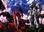 char's_counterattack damage damaged energy_sword epic gundam mecha nu_gundam sazabi shield sword weapon