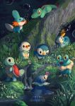 6+others :< artist_name beak bubble clockbirds creatures_(company) fang flower forest froakie frown game_freak gen_1_pokemon gen_2_pokemon gen_3_pokemon gen_4_pokemon gen_5_pokemon gen_6_pokemon gen_7_pokemon gen_8_pokemon grass highres leaf mudkip multiple_others nature nintendo no_humans open_mouth oshawott partially_submerged piplup pokemon pokemon_(creature) popplio sobble squirtle tail totodile turtle_shell water waterfall