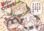 3girls ahoge angeltype bearded_girl check_translation christmas christmas_ornaments christmas_tree commentary costume deer fate/grand_order fate_(series) hair_ornament jeanne_d'arc_(alter)_(fate) jeanne_d'arc_(fate) jeanne_d'arc_(fate)_(all) jeanne_d'arc_alter_santa_lily merry_christmas multiple_girls tail translated translation_request