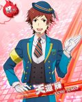 cap character_name dress gloves idolmaster idolmaster_side-m red_eyes redhead short_hair smile takeru_taiga