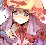 bad_id dadami hat patchouli_knowledge purple_eyes purple_hair touhou