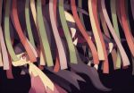 black_background black_hair closed_mouth extra_mouth komasawa_(fmn-ppp) looking_at_viewer mawile mega_mawile mega_pokemon no_humans open_mouth pokemon pokemon_(creature) red_eyes saliva sharp_teeth standing teeth