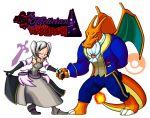 1girl 1other beast_(disney) beast_(disney)_(cosplay) beauty_and_the_beast belle_(disney) belle_(disney)_(cosplay) charizard closed_eyes cosplay creatures_(company) crossover disney dragon dress female_my_unit_(fire_emblem:_kakusei) fire_emblem fire_emblem:_kakusei fire_emblem_heroes game_freak girl intelligent_systems lips my_unit_(fire_emblem:_kakusei) neogandw nintendo parody pokemon pokemon_(creature) pokemon_frlg pokemon_rgby reflet rose sora_(company) suit super_smash_bros. super_smash_bros._ultimate super_smash_bros_for_wii_u_and_3ds transparent_background twintails white_hair