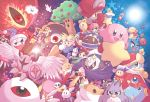 adeleine bandana_waddle_dee blue_eyes bronto_burt chef_kawasaki chilly_(kirby) chuchu_(kirby) commentary_request coo_(kirby) dark_matter dark_mind_(orb) daroach dragoon_(kirby) drawcia galacta_knight gooey gordo kine_(kirby) king_dedede kirby kirby's_dream_land kirby_(series) knuckle_joe kracko magolor marx master_hand meta_knight mr._bright mr._shine nago_(kirby) nightmare_(kirby) one_eye_closed pitch_(kirby) poppy_bros_jr prince_fluff red_eyes ribbon_(kirby) rick_(kirby) satou_kairi_(u-garden) shadow_kirby sky smile star star_(sky) star_rod starry_sky sun umbrella waddle_dee waddle_doo warp_star whispy_woods zero_two_(kirby)