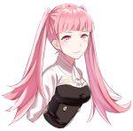 1girl bangs belt black_footwear black_legwear blunt_bangs colored_eyelashes fire_emblem fire_emblem:_fuukasetsugetsu hilda_(fire_emblem:_fuukasetsugetsu) long_hair menoko pink_eyes pink_hair solo twintails