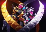 2boys absurdres armor belt helmet highres huge_filesize kamen_rider kamen_rider_zi-o kamen_rider_zi-o_(series) male_focus multiple_boys otokamu ouma_zi-o rider_belt simple_background