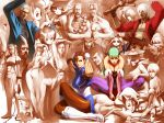 animal_ears anita anita_(vampire) ass aulbath bad_id beret blanka breasts brown_pantyhose bulleta bun_cover cammy_white capcom cat_ears chun-li cleavage dante devil_may_cry donovan donovan_baine double_bun double_buns everyone felicia guile gun hat jedah_dohma kurohachi lady lei_lei lilith_aensland morrigan_aensland pantyhose print_pantyhose purple_pantyhose q-bee rikuo street_fighter thick_thighs thighs vampire_(game) vergil virgil weapon wings zangief
