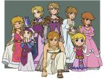 6+boys blonde_hair blue_eyes brown_hair cosplay crossdressing dress hands_together harp hat instrument jewelry link mivic_zel multiple_boys multiple_persona necklace one_eye_closed pointy_ears princess_zelda princess_zelda_(cosplay) purple_dress shoulder_armor sidelocks smile strapless strapless_dress the_legend_of_zelda the_legend_of_zelda:_a_link_to_the_past the_legend_of_zelda:_breath_of_the_wild the_legend_of_zelda:_ocarina_of_time the_legend_of_zelda:_skyward_sword the_legend_of_zelda:_the_wind_waker the_legend_of_zelda:_twilight_princess the_legend_of_zelda_(nes) toon_link toon_zelda toon_zelda_(cosplay) white_dress