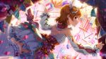 blush circus closed_eyes dress idolmaster_million_live!_theater_days orange_hair short_hair smile yabuki_kana