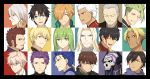 47_(479992103) achilles_(fate) arash_(fate) archer beowulf_(fate/grand_order) black_hair blonde_hair blue_eyes brown_hair closed_eyes collage cu_chulainn_(fate/grand_order) earrings enkidu_(fate/strange_fake) fate/grand_order fate_(series) fujimaru_ritsuka_(male) gilgamesh green_hair hector_(fate/grand_order) jekyll_and_hyde_(fate) jewelry karna_(fate) king_hassan_(fate/grand_order) lancelot_(fate/grand_order) lancer looking male_focus napoleon_bonaparte_(fate/grand_order) orange_hair ozymandias_(fate) purple_hair red_eyes robin_hood_(fate) silver_hair vlad_iii_(fate/apocrypha) white_hair yagyuu_munenori_(fate/grand_order)