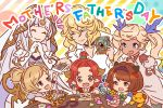 1boy 5girls ardora black_hair blonde_hair blue_eyes brown_eyes brown_hair camera candy closed_eyes draph echidna_(granblue_fantasy) elbow_gloves flower food gloves granblue_fantasy hair_ornament hairband horns io_euclase letter long_hair multiple_girls naoise official_art polaroid ponytail redhead short_hair smile stuffed_animal stuffed_toy twintails veil white_hair writing yae_(granblue_fantasy) yaia_(granblue_fantasy)