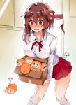 >_< /\/\/\ 6+girls :d ? blush blush_stickers box breasts brown_eyes brown_hair buttons carrying chesstitan collarbone d: doma_umaru door doorknob ebina_nana hair_ornament hamster_costume hamster_hood highres himouto!_umaru-chan kneehighs komaru large_breasts legs_up minigirl multiple_girls open_mouth outstretched_arms parachute red_eyes red_skirt shaking skirt smile sweat sweatdrop thighs wavy_mouth white_legwear window xd