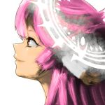 1girl brown_eyes commentary_request halo highres jibril_(no_game_no_life) long_hair magic_circle masamune_(mathumbnail) no_game_no_life pink_hair portrait profile smile solo wing_ears