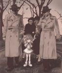 2boys 3girls captured_alien fbi hagoromo_lala m_tap monochrome multiple_boys multiple_girls precure star_twinkle_precure