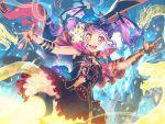 bang_dream! blush gothic heterochromia long_hair purple_hair red_eyes smile twintails udagawa_ako yellow_eyes