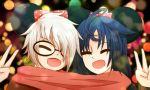1_ichi(lunime) 1boy 1girl closed_eyes couple gacha_life lunime retayu_arth smile yuii_(lunime)