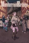3girls 6+boys akaza_(kimetsu_no_yaiba) alternate_costume biwa_lute black_footwear black_hair black_sclera black_skirt blonde_hair blue_eyes blue_footwear boots breasts bridge brother_and_sister brown_footwear brown_hair building car cat's_cradle coat contemporary contrapposto crossed_arms daki_(kimetsu_no_yaiba) denim douma_(kimetsu_no_yaiba) earrings english_text extra_eyes facial_mark fangs full_body genderswap genderswap_(mtf) green_eyes green_hair green_scarf ground_vehicle gyokko_(kimetsu_no_yaiba) gyuutarou_(kimetsu_no_yaiba) hair_bun hair_over_eyes hair_over_one_eye hantengu_(kimetsu_no_yaiba) high_heel_boots high_heels highres hoop_earrings instrument jacket jeans jewelry kaigaku kibutsuji_muzan kimetsu_no_yaiba knee_boots kokushibou lightning_bolt long_hair long_sleeves looking_at_another looking_at_viewer lute_(instrument) manhattan medium_breasts miniskirt motor_vehicle multicolored_hair multiple_boys multiple_girls nail_polish nakime_(kimetsu_no_yaiba) night open_mouth orange_sclera outdoors pale_skin pants ponytail pot real_world_location red_eyes red_nails red_sclera redhead rui_(kimetsu_no_yaiba) ryosuketarou scarf shirt shoes short_hair siblings silver_hair skirt slit_pupils smile sneakers standing straight_hair string sweater thighs torn_clothes torn_jeans torn_pants turtleneck turtleneck_sweater two-tone_hair white_skin