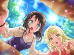 bang_dream! black_hair blue_eyea blush dress okusawa_misaki short_hair smile