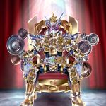 1boy absurdres gold_trim highres kamen_rider kamen_rider_grand_zi-o kamen_rider_zi-o kamen_rider_zi-o_(series) kuzurx male_focus sitting solo throne