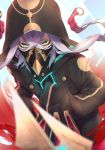 1boy absurdres asclepius_(fate/grand_order) black_jacket black_mask_(clothing) braid breastplate buttons commentary_request covered_mouth face_mask fate/grand_order fate_(series) gradient_hair green_eyes hair_between_eyes highres hood hood_up hooded_jacket hoodie jacket long_hair long_sleeves looking_at_viewer male_focus mask masked multicolored_hair open_clothes redhead sleeves_past_fingers sleeves_past_wrists solo twin_braids two-tone_hair white_hair yuurei447