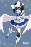 1boy black_hair bokura_wa_mahou_shounen crossdressing highres kaibara_makoto magical_girl male_focus sazameki_blue soxy