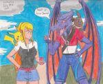 1boy 1girl crossover eevee metroid pikachu pokemon ridley samus_aran