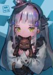 1girl aamond absurdres animal bangs black_bow black_cat bow brown_hair cat character_name crying crying_with_eyes_open dress frilled_dress frills girls_frontline hair_ornament hair_ribbon hat hat_bow highres hk416_(girls_frontline) holding holding_animal long_hair long_sleeves mini_hat ribbon silver_hair tears two_side_up