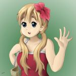 blonde_hair dress k-on! kotobuki_tsumugi looking_at_viewer smile solo upper_body