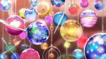 blurry blurry_background blurry_foreground derivative_work dolamcan highres irozuku_sekai_no_ashita_kara lens_flare no_humans orb ornament planet scenery sparkle