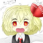 1girl blonde_hair chibi happy happy_birthday highres is_that_so kuroneko_o.<~ red_eyes rumia self_upload solo sonanoka sparkling_eyes touhou