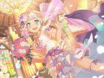 bang_dream! blue_eyes bouquet dress long_hair smile veil wakamiya_eve wedding white_hair