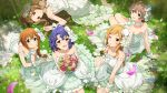 blue_hair brown_eyes brown_hair group idolmaster_million_live!_theater_days long_hair momose_rio short_hair toyokawa_fuuka