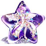 1girl absurdres beyal boots green_eyes highres lily_(shironeko_project) long_hair luca_(star_gladiator) luka_(shironeko_project) mana_(muten_no_kaito) mana_(shironeko_project) muirne_(fire_emblem) noa_(shironeko_project) noah_(fire_emblem) noah_(saibai_shounen) purple_hair sh-n-9 shironeko_project thigh-highs thigh_boots
