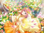 dress green_eyes long_hair pink_hair shoujo_kageki_revue_starlight smile tsuruhime_yachiyo vines