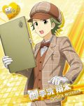 cap character_name green_eyes green_hair idolmaster idolmaster_side-m jacket mitarai_shouta short_hair