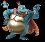 1boy alternate_color blue_skin crocodilian donkey_kong_(series) edit gen_2_pokemon highres king_k._rool pokemon