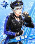 brown_eyes cap character_name grey_hair hazama_michio idolmaster idolmaster_side-m jacket short_hair